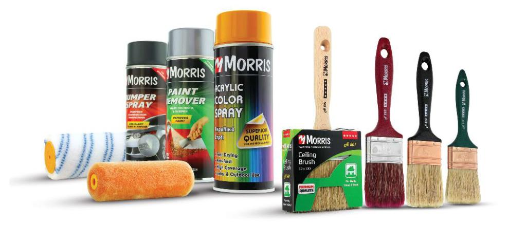 Morris festő szerszámok és kiegészítői